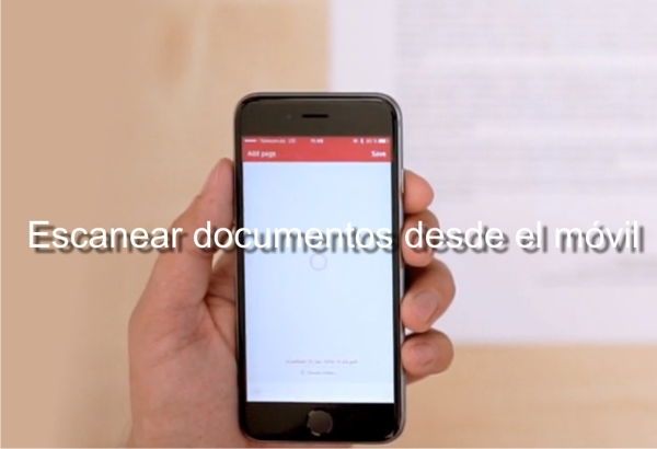 Escanear documentos con el movil